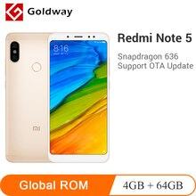 Orijinal Xiaomi Redmi Not 5 4 GB RAM 64 GB ROM Snapdragon 636 Octa Çekirdek 5.99