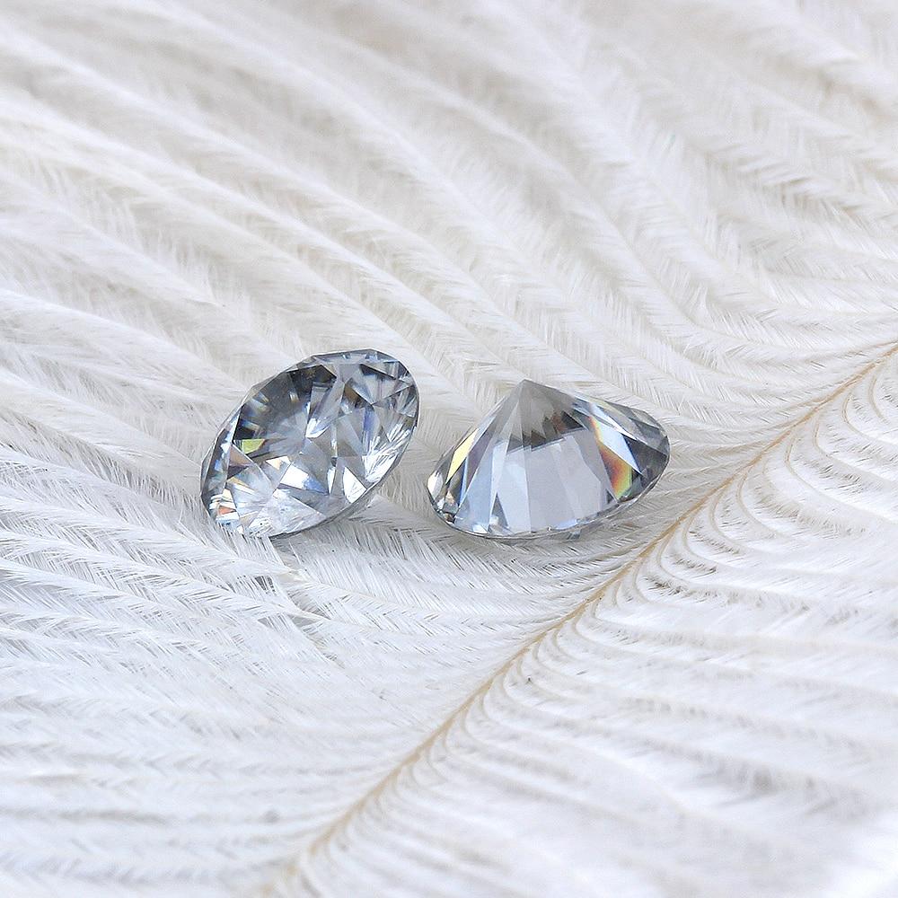 TransGems 8mm 2Carat grau Farbe Zertifiziert Mann made Diamant Lose Moissanite Perle Als Echte Diamant Edelstein 1 stücke-in Lose Diamanten & Edelsteine aus Schmuck und Accessoires bei  Gruppe 2