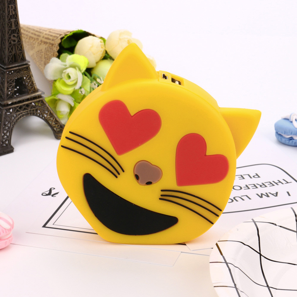 Cute Cartoon Design 8800mAh Mobile Portable Battery Charger USB External Battery Charger Power Bank For Students
