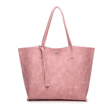 Miyahouse Large Capacity Shoulder Bag For Female Korean Style Fashion Handbag For Women Tassel Design PU Leather Shoulder Bag