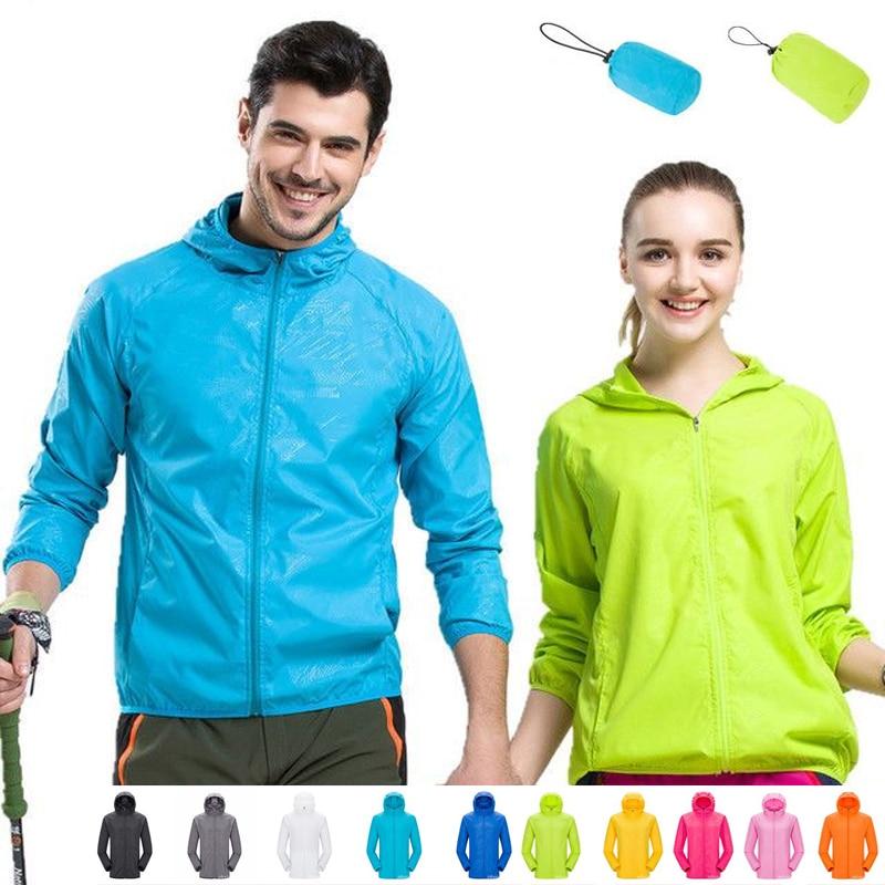 Men Women Quick Dry Sportswear Hiking Jacket Waterproof Anti-UV Coats Outdoor Sport Skin Jackets Summer Autumn Rain Thin Jackets