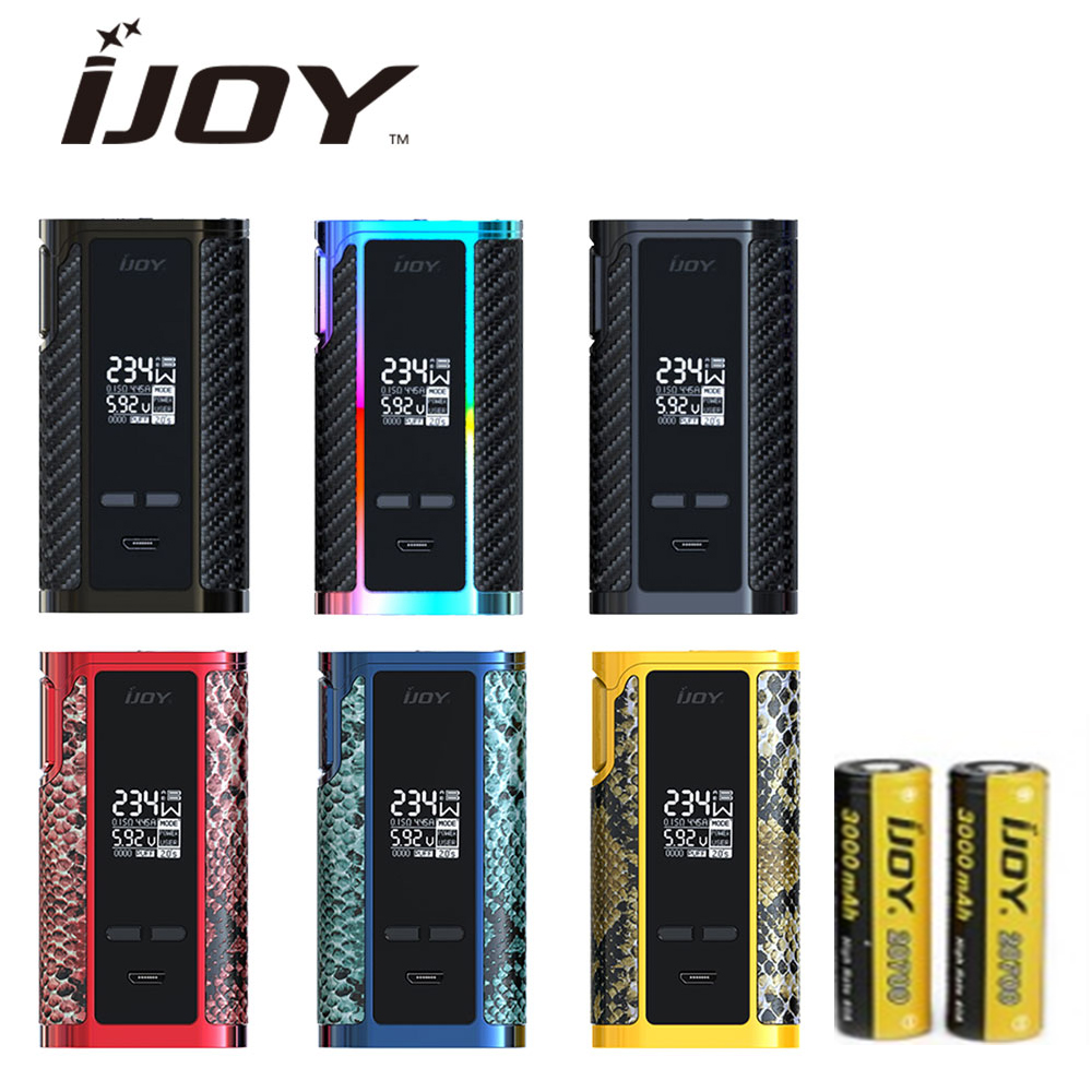 100% D'origine 234W IJOY Capitaine PD270 TC MOD avec double 20700 Batterie 6000mAh maximum 234W sortie boîte de vape mod vs Capitaine PD1865