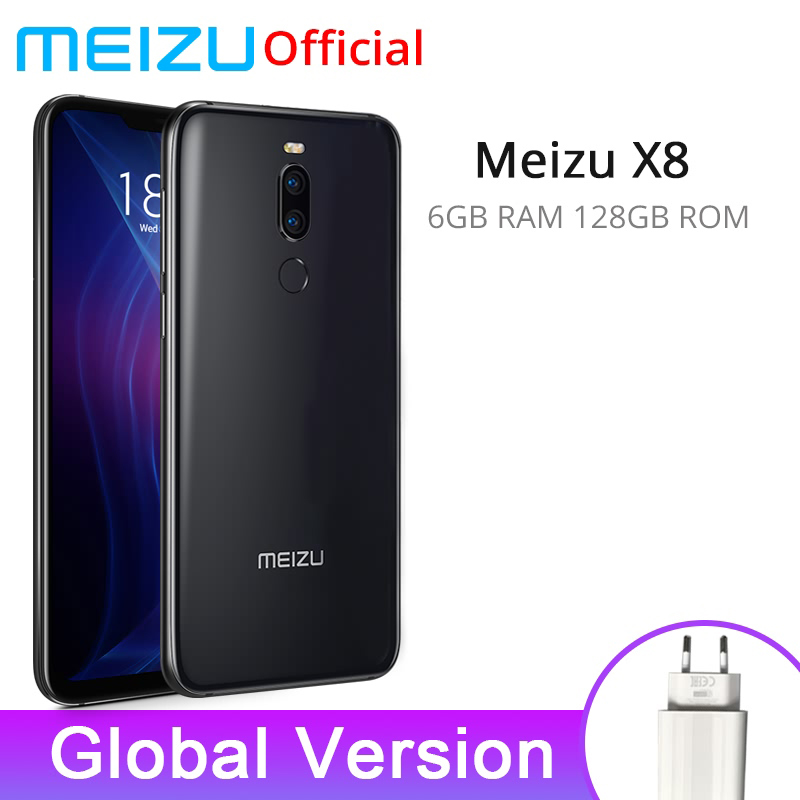 Meizu X8 6GB 128GB Global Version Smartphone Snapdragon 710 Octa Core Mobile phone Dual Rear Camera Cell Phone Fingerprint smartphone