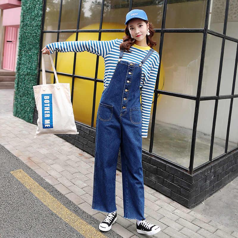 847a12a165d6 Hot Vogue Clothes Women Denim Jumpsuits Cotton Strap Rompers Trousers Loose  Casual Vintage Overalls Pants Female