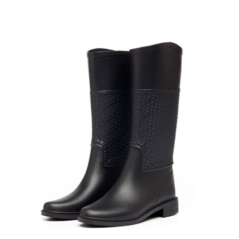 Rain boots female antiskid L - Rain2017 autumn winter boots are weaving lines for rubber tall canister boots the new spring and summer ms south korea ensure their boots comfortable show female water thin antiskid tall canister shoe