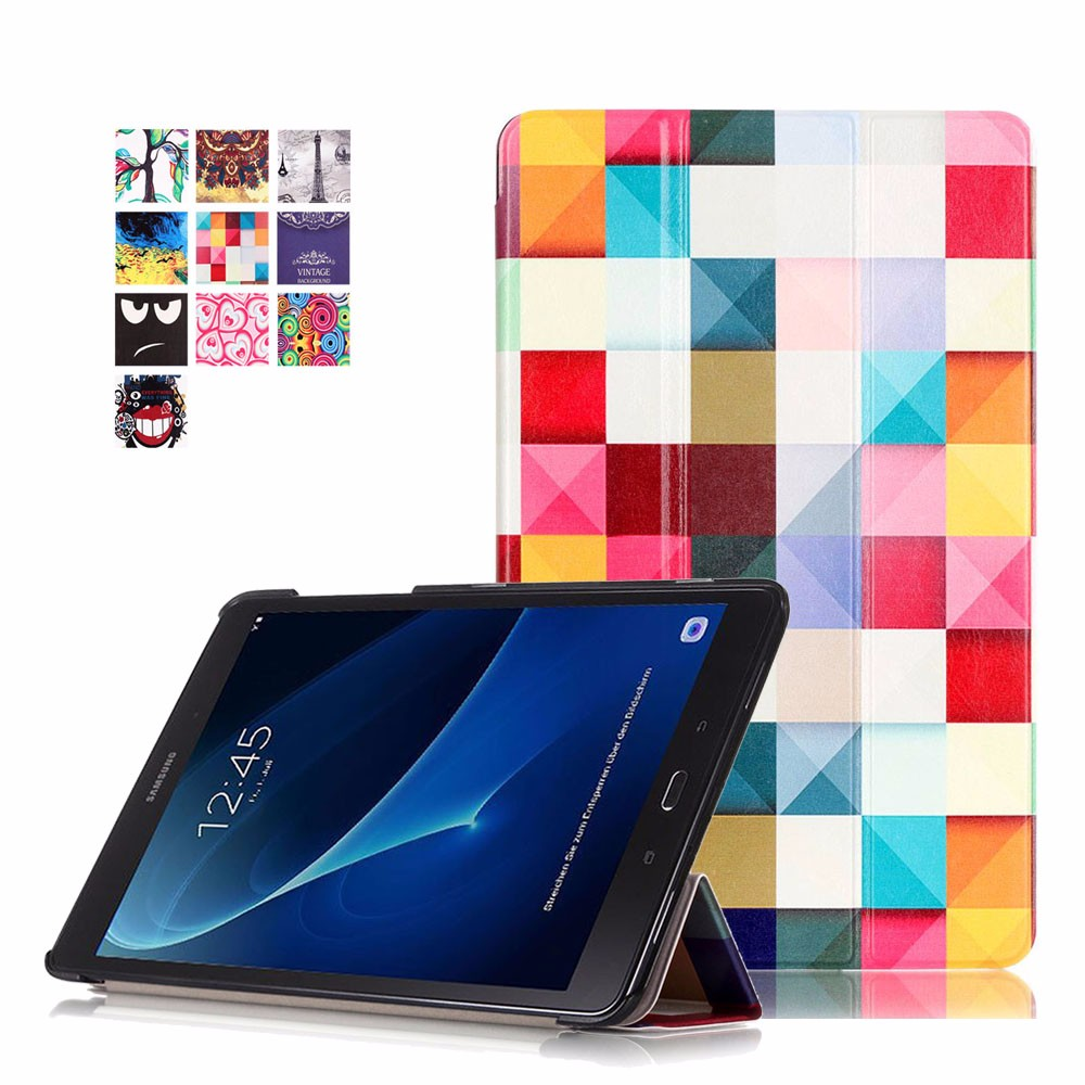 Magnetic stand pu leather cover case for Samsung Galaxy Tab A 10.1 T585 T580 SM-T580 T580N funda cases + film protector + stylus fashion painted flip pu leather for samsung galaxy tab a 10 1 sm t580 t585 t580n 10 1 inch tablet smart case cover pen film