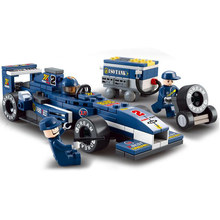 BOHS Formula 1 F1 Racing Car 1:32 Blue Children Educational Toys Plastic Racer Building Blocks