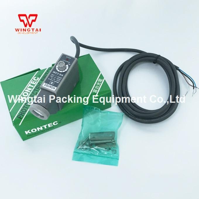NPN White Light Electric Sensor Taiwan KONTEC KS-C2W for Printing Machine taiwan kontec ks c2g photoelectricity eye sensor green light