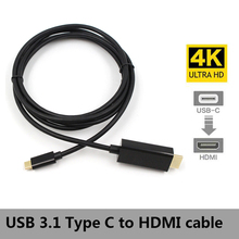 цена на USB 3.1 to HDMI 4K Adapter Cable 2M Type C to HDMI Cable for MacBook Samsung Galaxy S9/S8/Note 9 Huawei USB-C HDMI