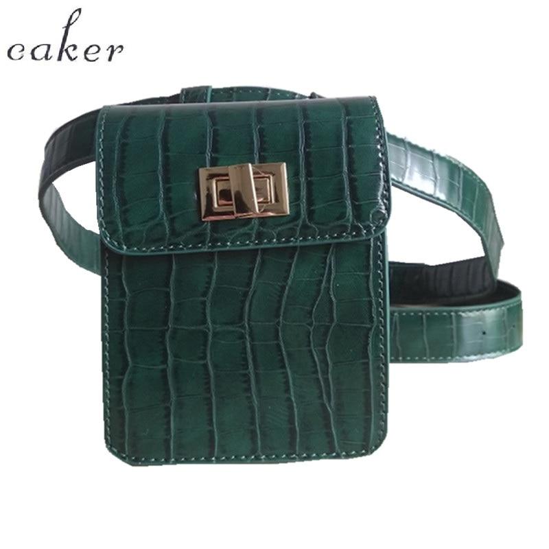 Caker márka 2017 Krokodil csészék csomag övtáska Zöld khaki - Derék csomagok