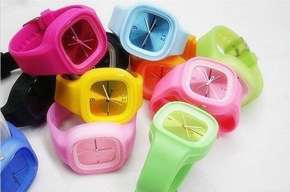 Sale Promotion--103pcs/lot ODM Jelly Spin Stylish Watch--Fast home delivery--Free shipping