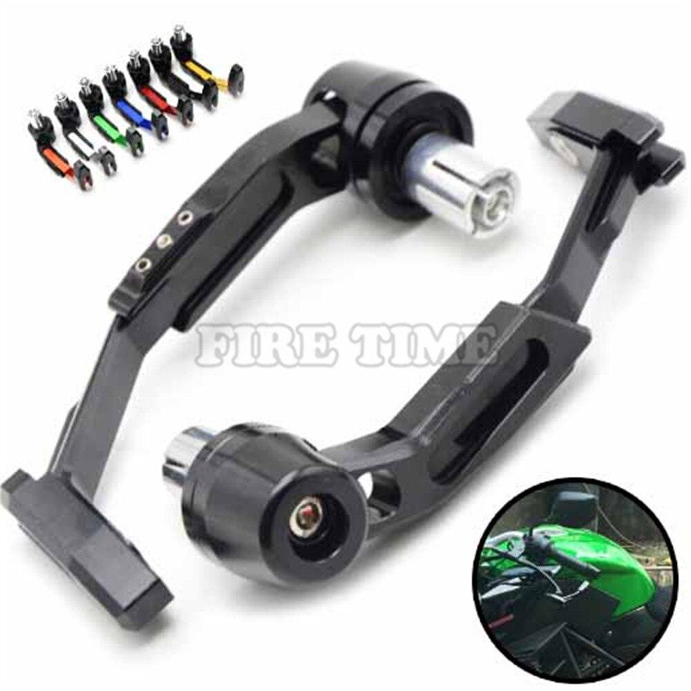 7/8 Adjustable Motorcycle Handle Bar Grips motorbike Brake Clutch Levers Protector guard for Yamaha R1 R6 R125 R15 FZ16 FZ1 KTM