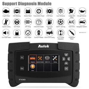 Image 4 - Autek IFIX969 OBDII Автомобильный сканер подушка безопасности ABS SRS SAS EPB сброс масла TPMS профессиональная полная система ODB OBD2 диагностический инструмент