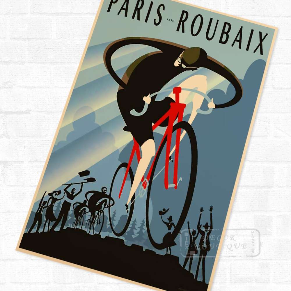 Metal Tin Sign paris roubaix  Decor Bar Pub Home Vintage Retro Poster