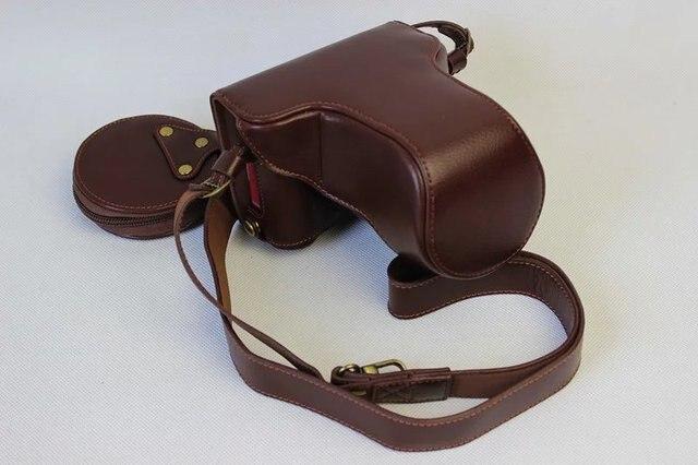 cefb4023285 Echt Echt Lederen Camera Tas Beschermhoes Voor Fujifilm Fuji XA3 X-A3 xa3  XA10 XA