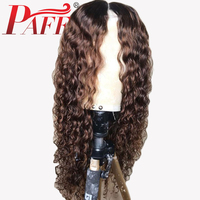 PAFF Ombre Color 13x6 Deep Part Dark Roots Wig Malaysia Loose Deep Lace Front Human Hair Wigs For Women Free