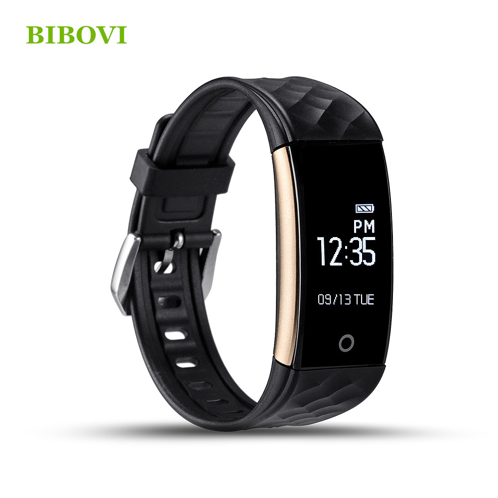 2016 New BIBOVI S2 sports Smart band heart rate monitor wristband for android IOS phone sports
