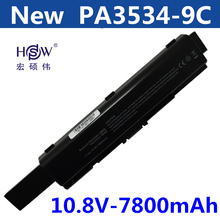9CELL 7800MAH Laptop Battery FOR Toshiba Satellite Pro A200 A210 L300 L300D L550 L450 L500 L550 pa3534u-1brs a300 wholesale laptop battery for toshiba satellite a200 l500 l505 l550 a505 series pabas174 pabas09 6 cells