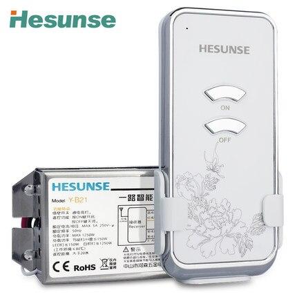 Envío libre Y-B21 CE RoHS 1Ch RF interruptor remoto inalámbrico 220 V 110 V con Control remoto ON OFF Wifi forma botón nueva llegada