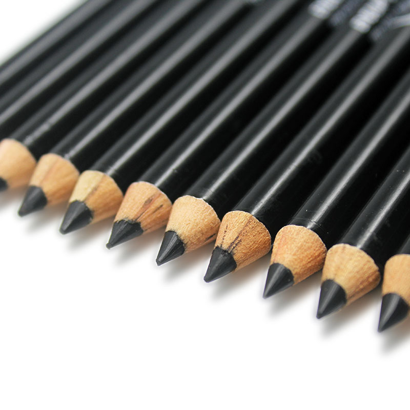 MENOW 12pcs/Lot Professional Black Eyeliner Pencil Makeup Waterproof Eyebrow Beauty Pen Eye Liner Cosmetic Tools water resistant cosmetic makeup liquid eyeliner thick pen black