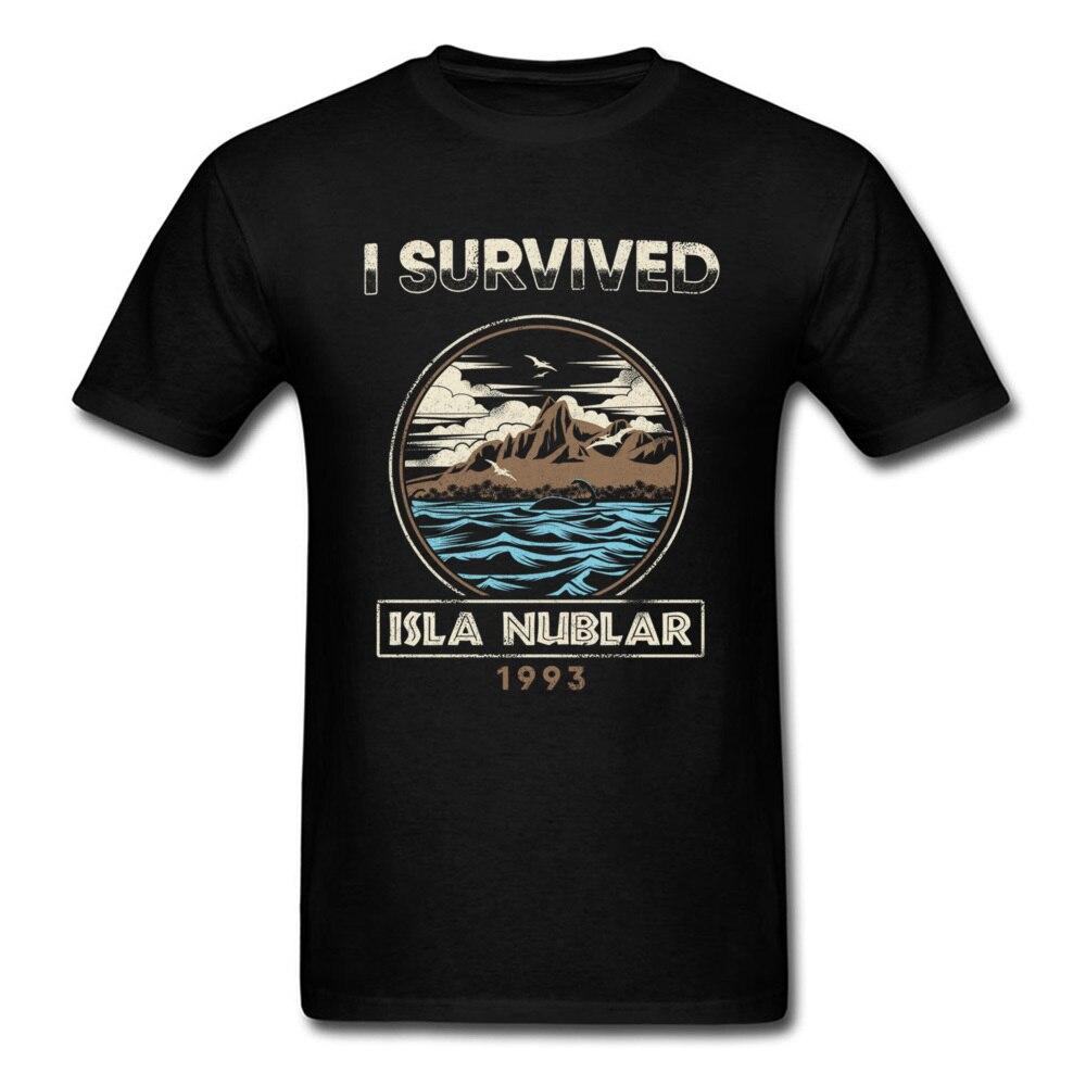 Isla Nublar 1993 T Shirt Jurassic Park Tshirt Men T-shirt Black Tops Tee Cotton Clothing Vintage Graphic Workout Shirts