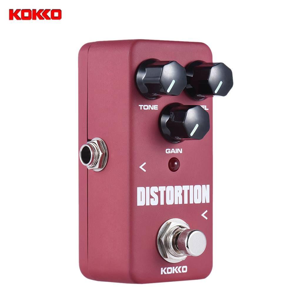 Prix pour KOKKO FDS2 Mini Distorsion Pédale Portable Guitare Pédale D'effet De Haute Qualité Guitare Pièces & Accessoires