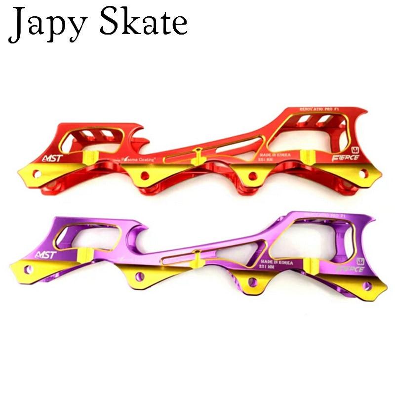 Prix pour Jus japy Skate Coloré FÉROCE F1 MST Rocker Cadres Pour SEBA Powerslide Banane Bassin Slalom Patins Base À Bascule 219 213 243mm cadres