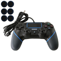Wired Game controller for PS4 Controller for Playstation 4 Vibration Joystick Gamepads for Play Station 4 1.8m cable thumb grips