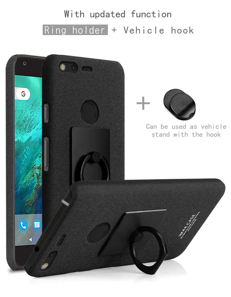 pretty nice e44b0 f0105 US $7.22 15% OFF|Original Imak Cover for Google Pixel XL Case Ultra Slim  Hard PC Matte Cowboy Phone Case for Google Pixel XL Cover + Ring Holder-in  ...