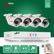 ANRAN 1800N 4CH HD AHD DVR 1800TVL 720P 24 IR Day Night Outdoor Waterproof Video Security Camera Home CCTV Surveillance System