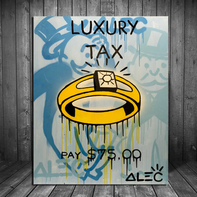 Alec Monopoly Luxury Tax Wall Art Canvas Posters And Prints Canvas Painting Decorative Picture For Office Living Room Home Decor