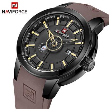 Mens Watches Top Luxury Brand NAVIFORCE Men Unique Sports Watch Men's Quartz Date Clock Waterproof Wrist Watch Relogio Masculino