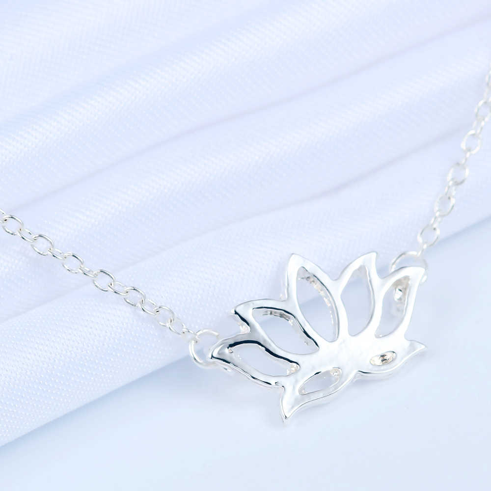 Kinitial lotosu bransoletki urok łańcuch bransoletki i Bangles dla kobiet moda druhny kwiat jogi bransoletka biżuteria