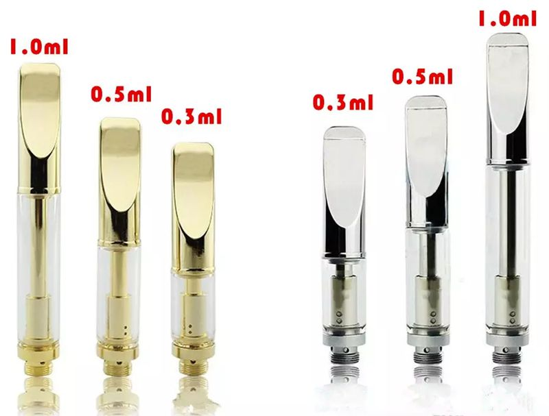10pcs/lot No leaking Vape Cartridges Dual Cotton coil glass cartridge vaporizer pen cartridges for thick CBD oil fit 510 battery