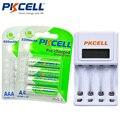 4 pcs/card bateria 1.2 v nimh 2200 mah aa recarregável + 4 pcs/card aaa 850 mah ni-mh baterias + 1 pcs aa/aaa carregador de bateria 8152