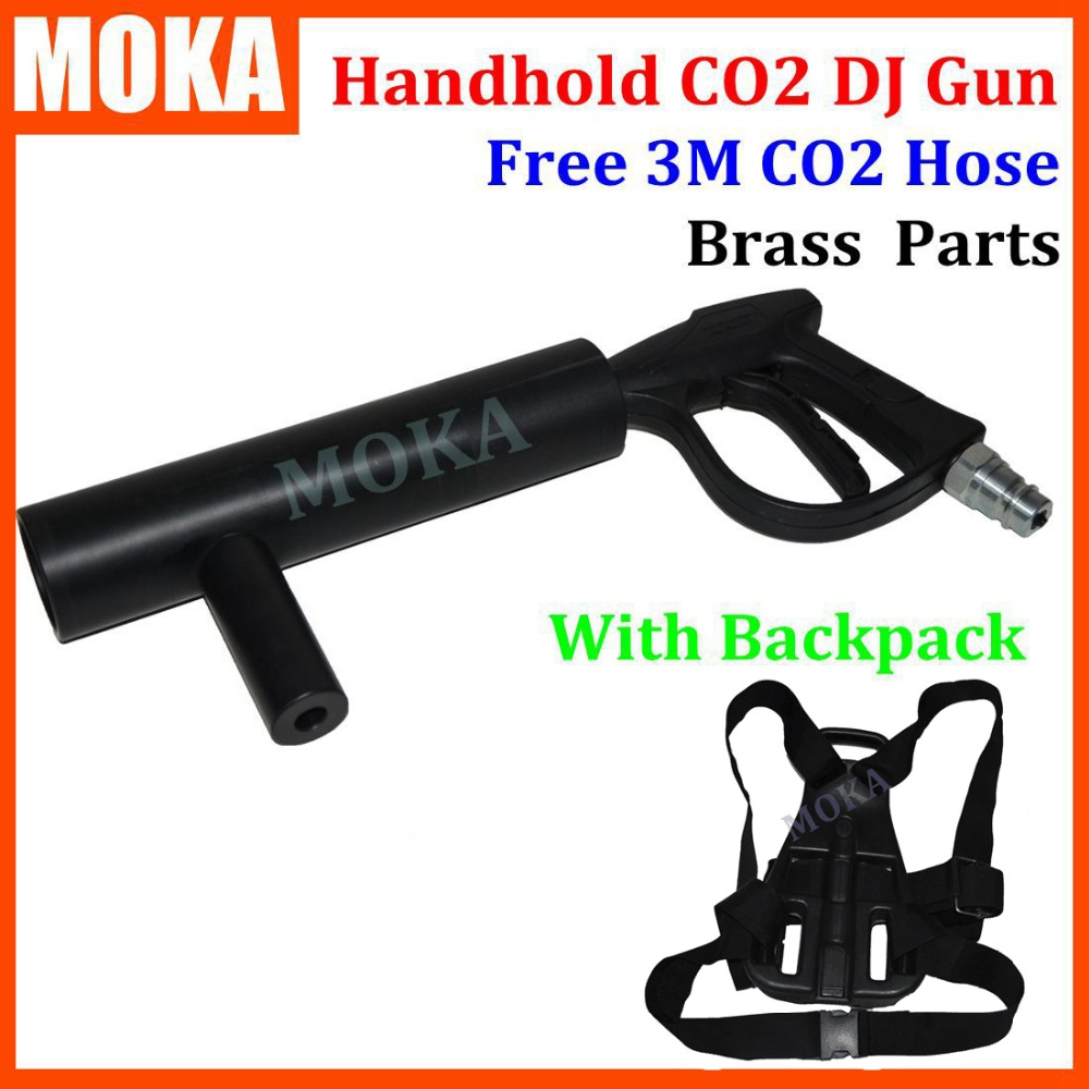 Handheld CO2 DJ Gun co2 Jet Machine  + CO2 Tank Backpack belt with 3m gas hose nightclub CannonHandheld CO2 DJ Gun co2 Jet Machine  + CO2 Tank Backpack belt with 3m gas hose nightclub Cannon