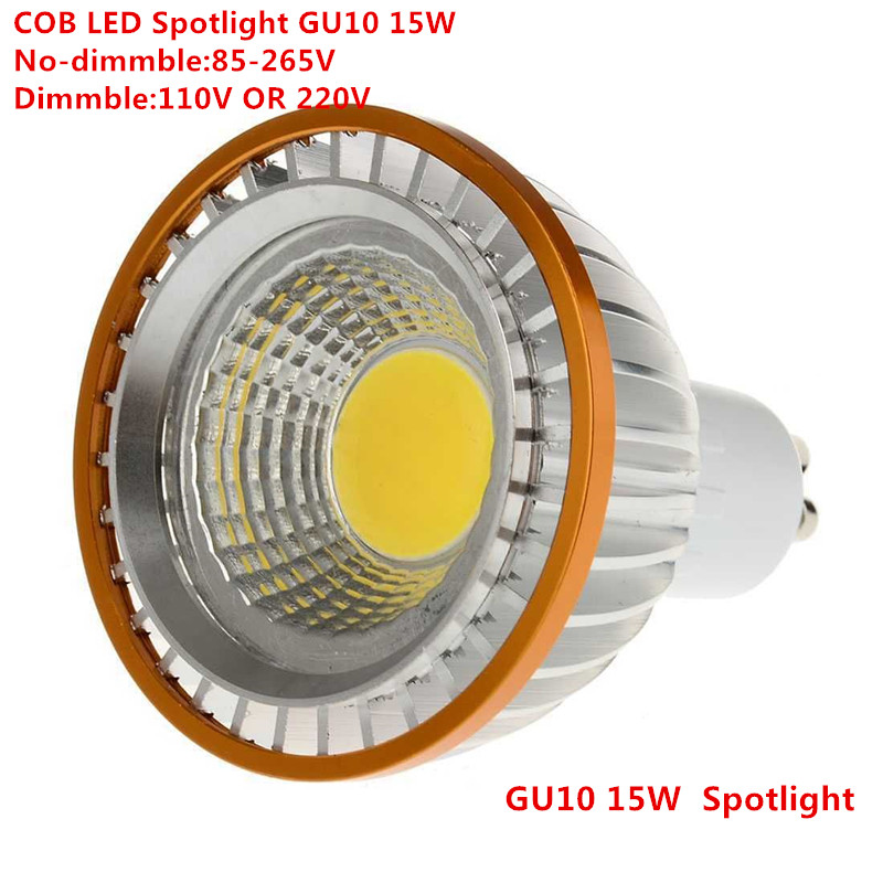 10pcs LED COB PAR20 Bulb 220V 110V dimmable GU10 15W bulb LED P20 Spotlights Lamps Pure