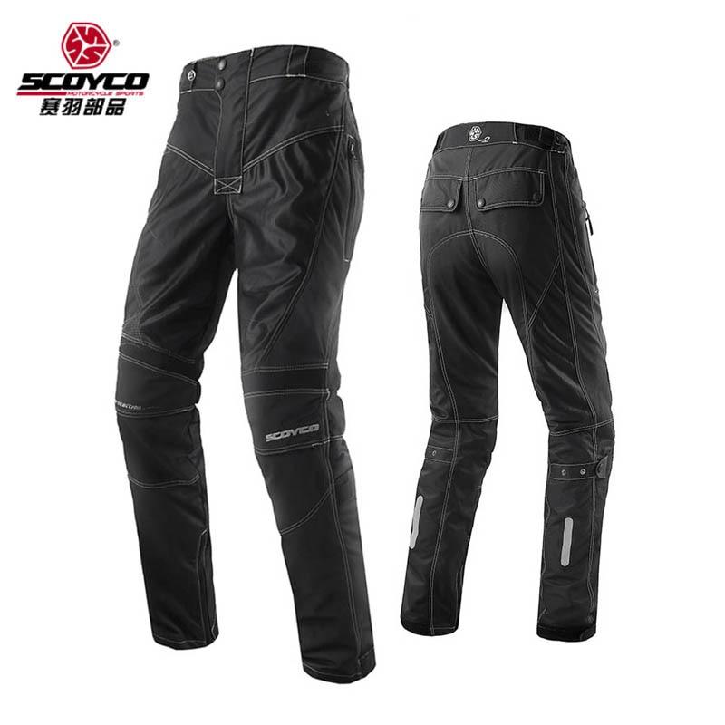 SCOYCO мотоциклетные штаны летние дышащие брюки мотоцикл Off Road мотокроссу Защитный Шестерни открытый SportsTrousers