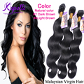 8A Malaysian Virgin Hair human hair bundles Body Wave hair wigs wholesale 3pcs/lot Natural Color #2 Dark Brown #4 Light Brown