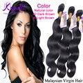 8A Pelo Virginal Malasio paquetes de pelo humano Onda Del Cuerpo del pelo pelucas al por mayor 3 unids/lote Color Natural #2 Marrón Oscuro #4 Luz marrón