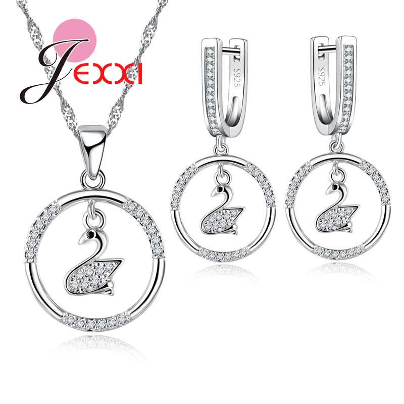 Jemmin Fashion Swan Pendant Jewelry Sets