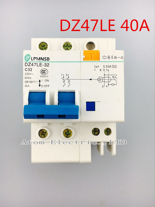 2p Dz47l 40a Electric Shock Protection Switch    Leakage