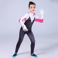 3D Kids Women Spiderman Spider Gwen Costume Gwendolyn Maxine Stacy Zentai Suit Spidergirl Cosplay Halloween Costumes For Girls