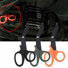 2016 Wholesale Pocket Size Tactical Scissor Bandage Paramedic Shears Survival Rescue Tool free shipping