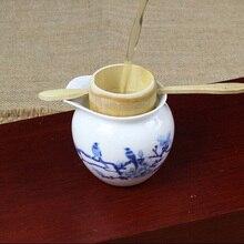 50pcs Bamboo Tea Strainer Filter Colander Infuser Hand Made Crafts Novelty Tea Tool Vintage Kung Fu