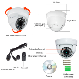 Image 5 - KingCam 1080P Audio Dome  IP Camera with Microphone 2MP Security indoor ipcam Day/Night CCTV ONVIF  Surveillance Cameras