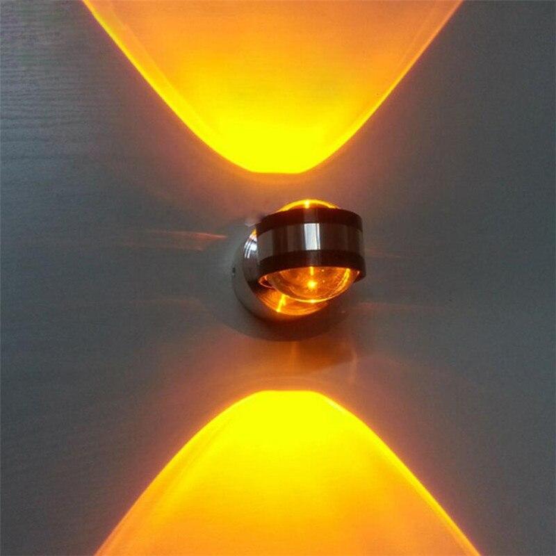 110 220v 2 6w aluminum wall lights for home arandelas para for Miroir 220 review