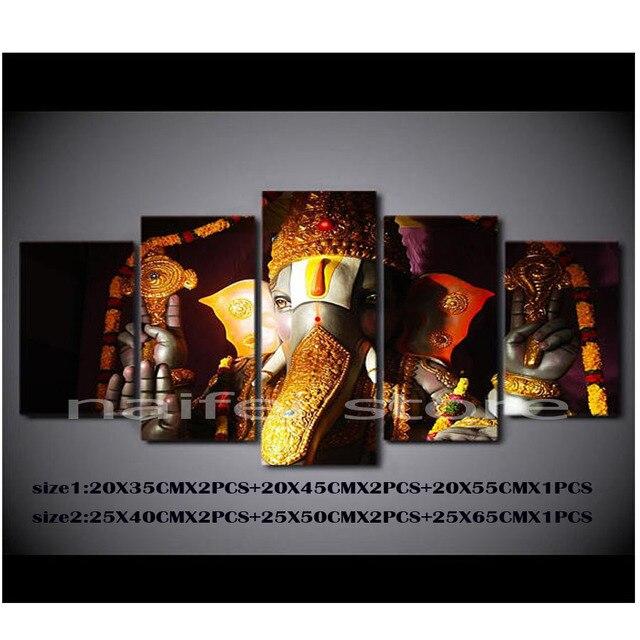 US $42 3 44% OFF 5 pcs/set,DIY 5D Diamond painting Mosaic Ganesha,Hindu  Religious Gift and Home Decor,Diamond Embroidery Pattern Rhinestone-in  Diamond