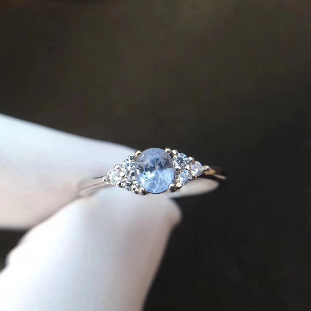 Wedding Ring Sapphire ring Natural and real sapphire 4*5mm gems 925 sterling silver цены онлайн