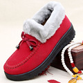Mujeres botas cortas planas botas de hebilla del tobillo de la nieve del invierno del otoño botas de mujer zapatos para caminar joven estudiante dama